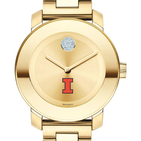 University of Illinois Women's Movado Gold Bold
