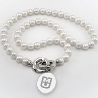 University of Missouri Pearl Necklace with Sterling Silver Charm