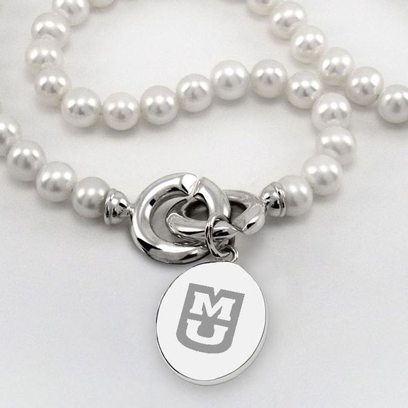 University of Missouri Pearl Necklace with Sterling Silver Charm - Image 2