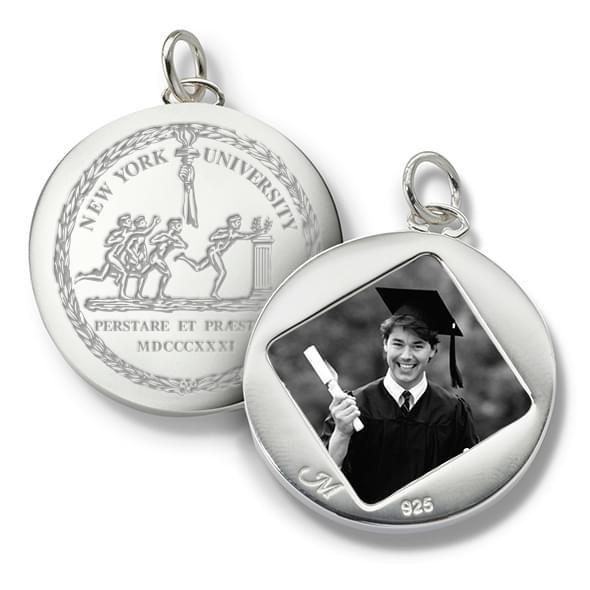 NYU Monica Rich Kosann Round Charm in Silver - Image 2