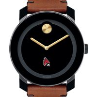 Ball State Men's Movado BOLD with Brown Leather Strap
