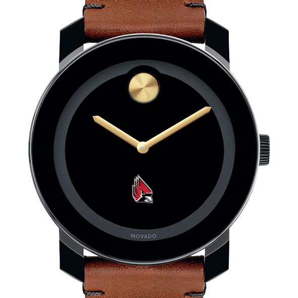 Ball State Men's Movado BOLD with Brown Leather Strap - Image 1