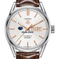 Penn State University Men's TAG Heuer Day/Date Carrera with Silver Dial & Strap