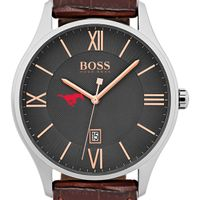 Southern Methodist University Men's BOSS Classic with Leather Strap from M.LaHart