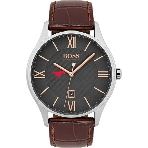 Southern Methodist University Men's BOSS Classic with Leather Strap from M.LaHart - Image 2