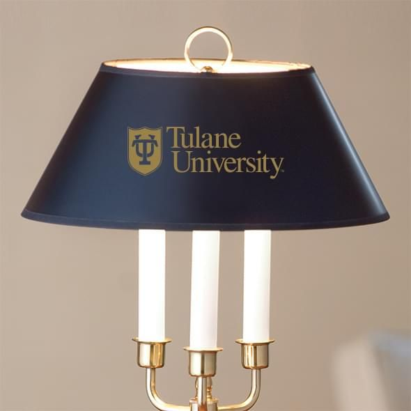 Tulane University Lamp in Brass & Marble - Image 2