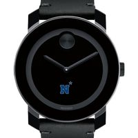 US Naval Academy Men's Movado BOLD with Leather Strap