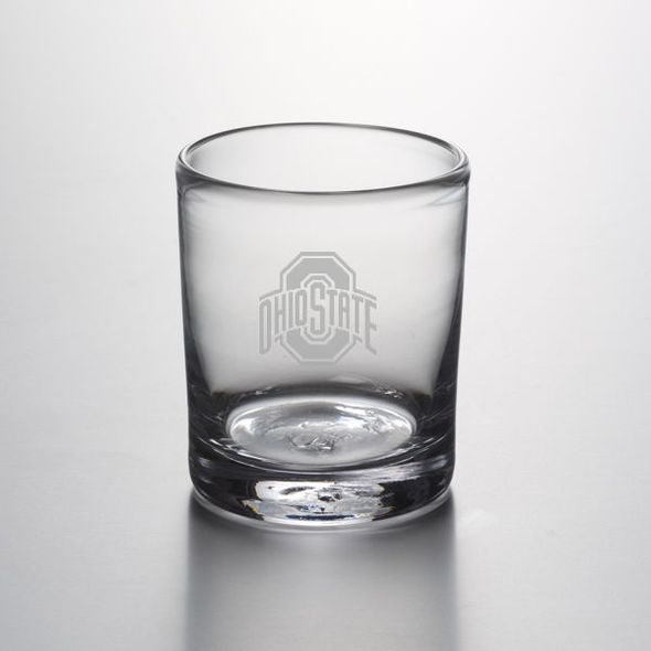 Ohio State Double Old Fashioned Glass by Simon Pearce - Image 1
