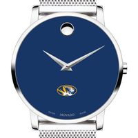 University of Missouri Men's Movado Museum with Blue Dial & Mesh Bracelet
