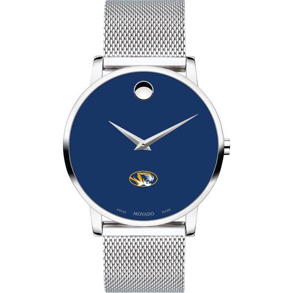 University of Missouri Men's Movado Museum with Blue Dial & Mesh Bracelet - Image 2
