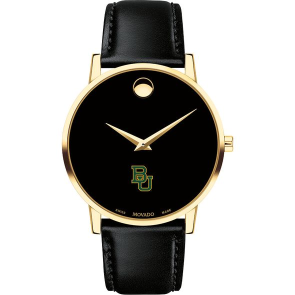 Baylor University Men's Movado Gold Museum Classic Leather - Image 2