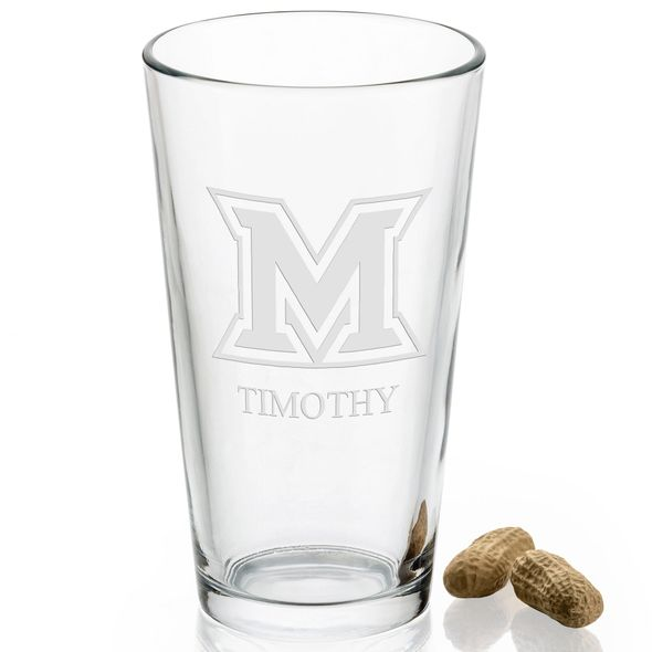 Miami University 16 oz Pint Glass - Image 2