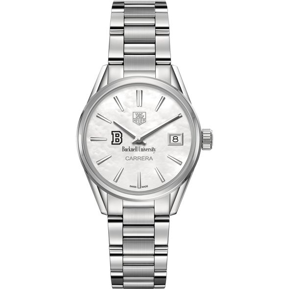 Bucknell University Women's TAG Heuer Steel Carrera with MOP Dial - Image 2