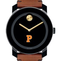 Princeton University Men's Movado BOLD with Brown Leather Strap