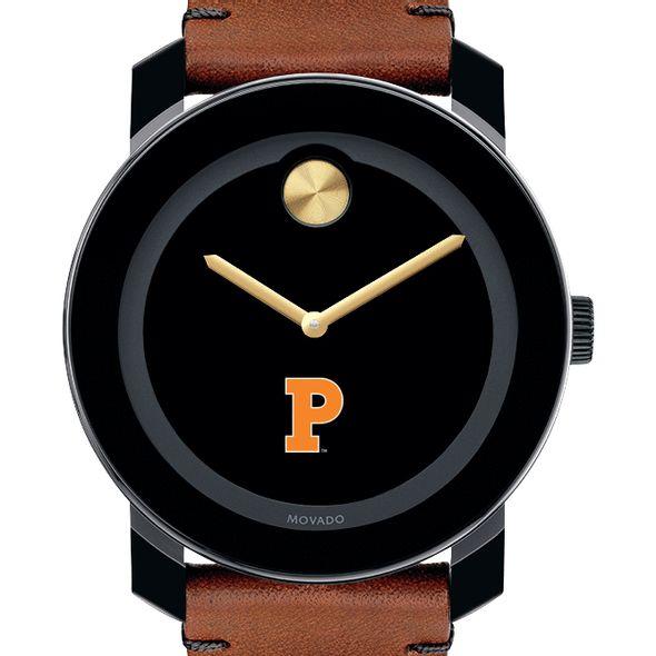 Princeton University Men's Movado BOLD with Brown Leather Strap