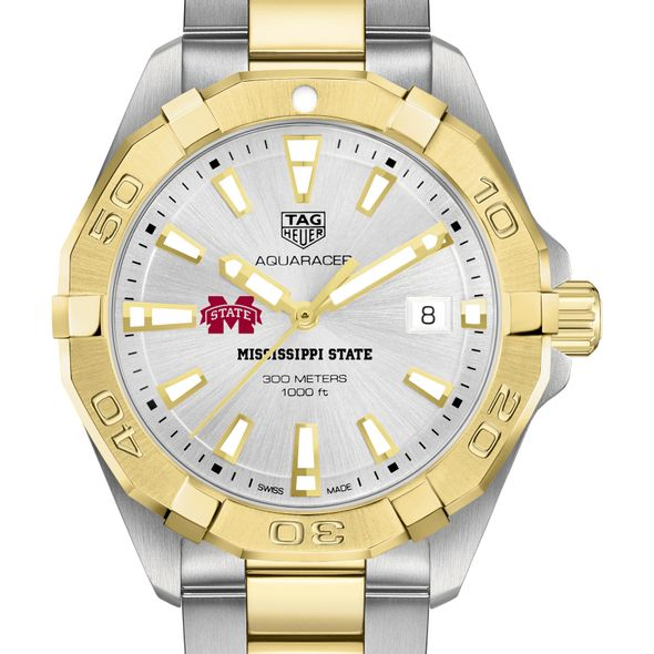 Mississippi State Men's TAG Heuer Two-Tone Aquaracer