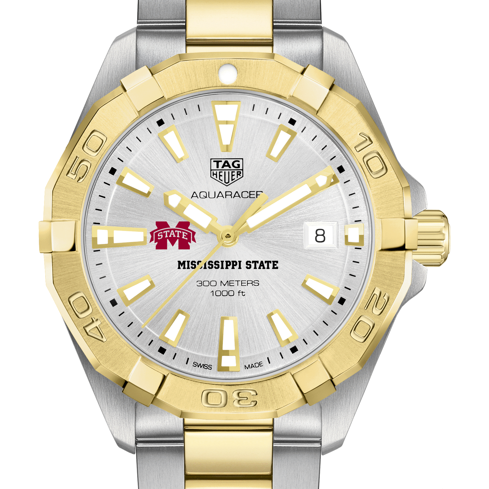 Mississippi State Men's TAG Heuer Two-Tone Aquaracer - Image 1