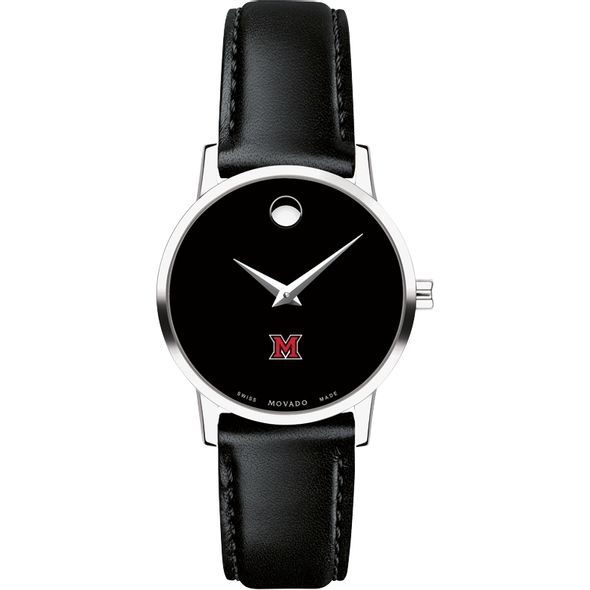Miami University Women's Movado Museum with Leather Strap - Image 2