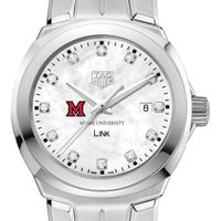 Miami University TAG Heuer Diamond Dial LINK for Women