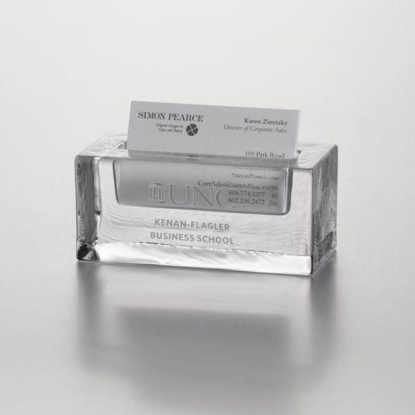 UNC Kenan-Flagler Glass Business Cardholder by Simon Pearce
