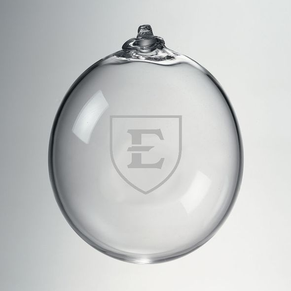 East Tennessee State University Glass Ornament by Simon Pearce