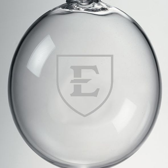 East Tennessee State University Glass Ornament by Simon Pearce - Image 2