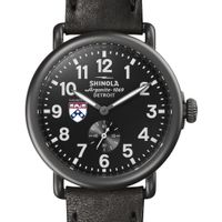 Wharton Shinola Watch, The Runwell 41mm Black Dial