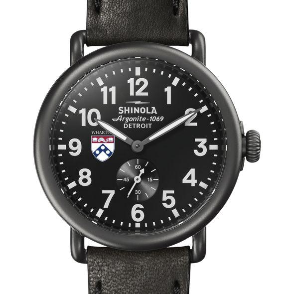Wharton Shinola Watch, The Runwell 41mm Black Dial