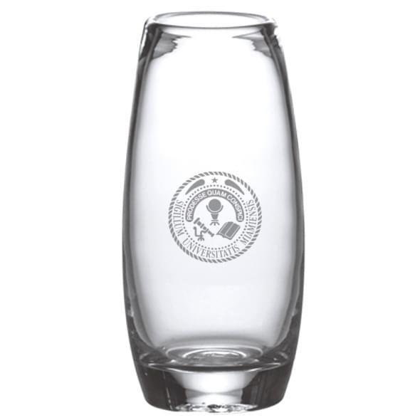 Miami University Glass Addison Vase by Simon Pearce