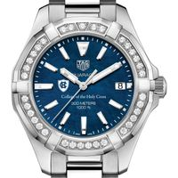 Holy Cross Women's TAG Heuer 35mm Steel Aquaracer with Blue Dial