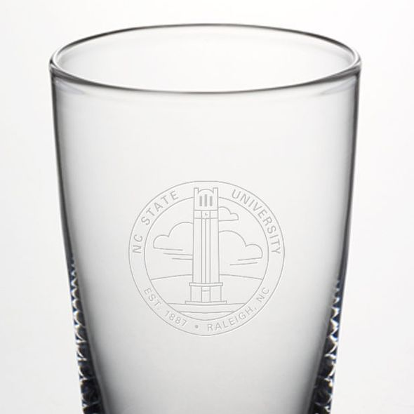 NC State Ascutney Pint Glass by Simon Pearce - Image 2