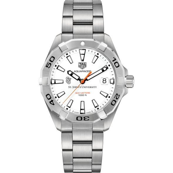 St. John's University Men's TAG Heuer Steel Aquaracer - Image 2