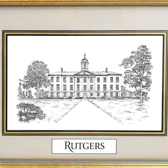 Rutgers University Black Ink Gold Frame - Image 2