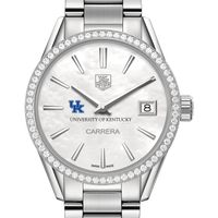 University of Kentucky Women's TAG Heuer Steel Carrera with MOP Dial & Diamond Bezel