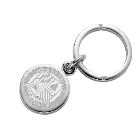 Loyola Sterling Silver Insignia Key Ring - Image 1