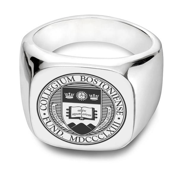 Boston College Sterling Silver Square Cushion Ring