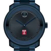 Temple University Men's Movado BOLD Blue Ion with Bracelet