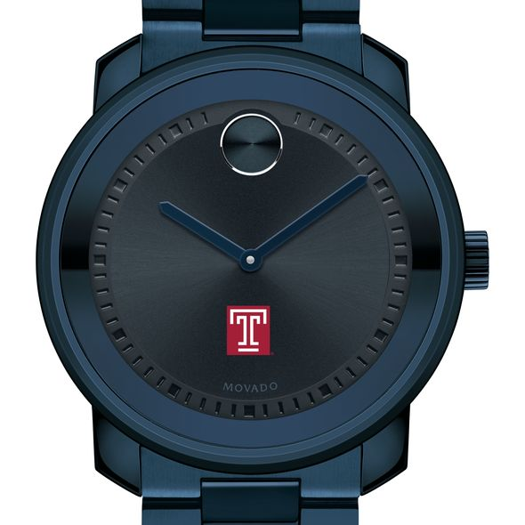 Temple University Men's Movado BOLD Blue Ion with Bracelet