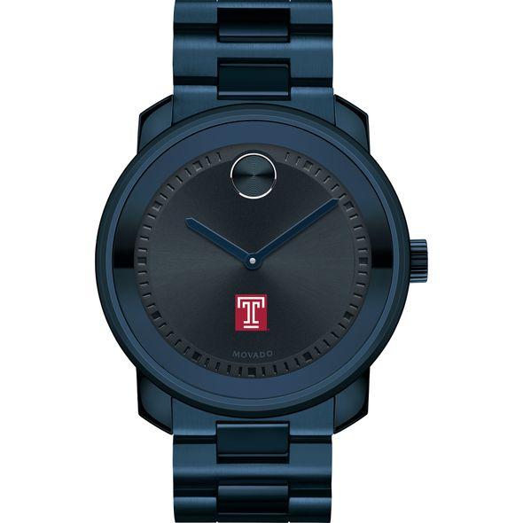 Temple University Men's Movado BOLD Blue Ion with Bracelet - Image 2