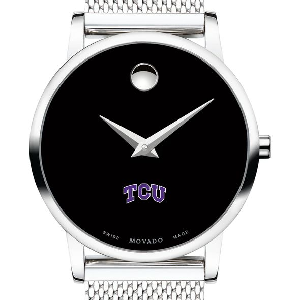 Texas Christian University Women's Movado Museum with Mesh Bracelet
