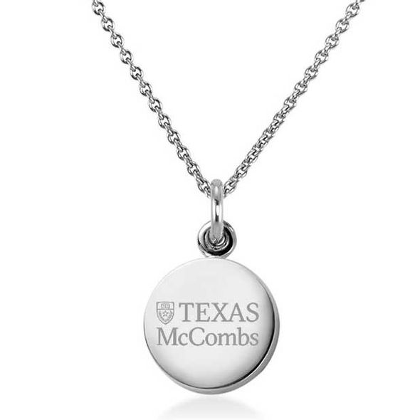 Texas McCombs Necklace with Charm in Sterling Silver - Image 1
