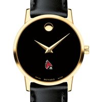 Ball State Women's Movado Gold Museum Classic Leather
