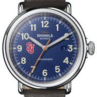 St. John's Shinola Watch, The Runwell Automatic 45mm Royal Blue Dial