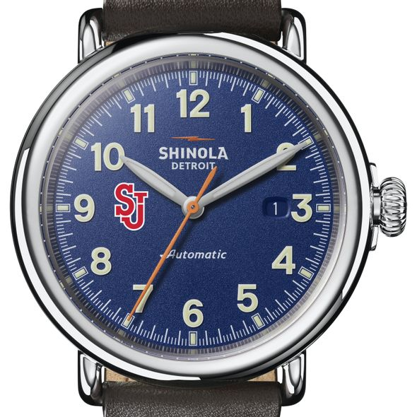 St. John's Shinola Watch, The Runwell Automatic 45mm Royal Blue Dial - Image 1