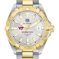 Virginia Tech Men's TAG Heuer Two-Tone Aquaracer