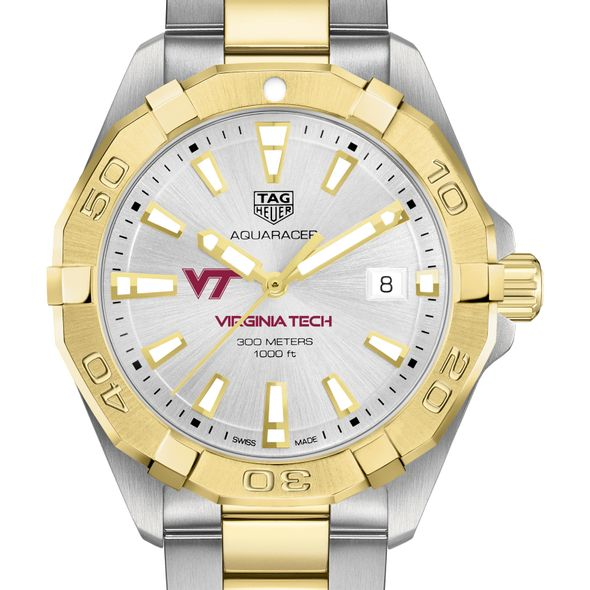 Virginia Tech Men's TAG Heuer Two-Tone Aquaracer