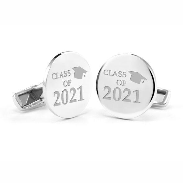 Class of 2021 Cufflinks in Sterling Silver - Image 1