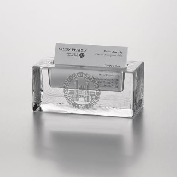 WUSTL Glass Business Cardholder by Simon Pearce