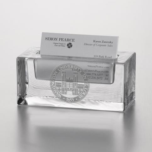 WUSTL Glass Business Cardholder by Simon Pearce - Image 2