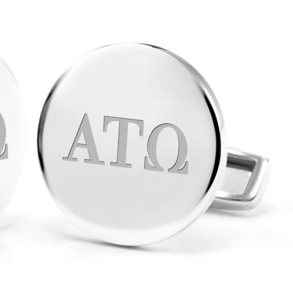 Alpha Tau Omega Sterling Silver Cufflinks - Image 2